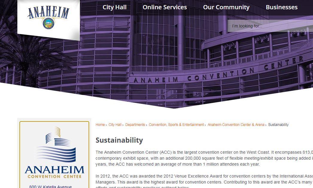 Anaheim Sustainability