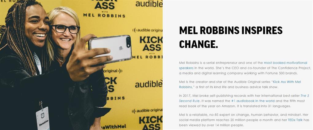 Mel Robbins Website